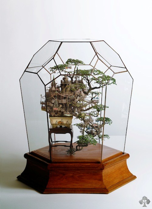 Bonsai treehouse diorama