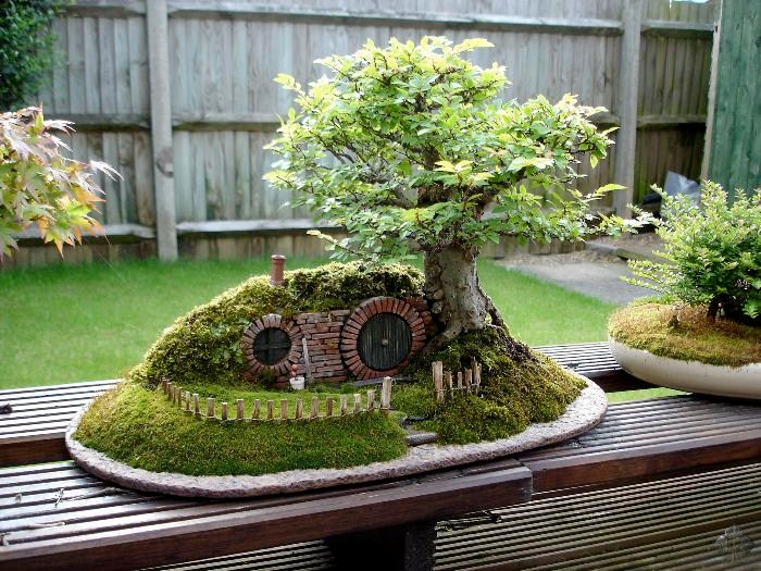Bag end bonsai tree
