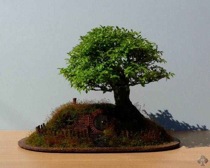 Bonsai landscape bag end