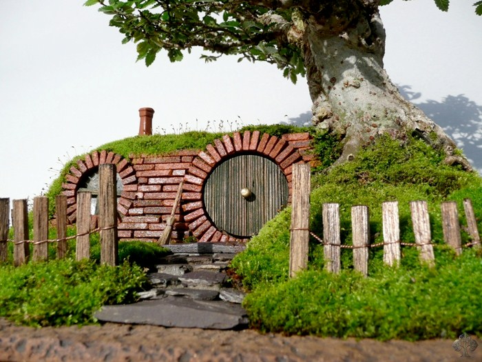 Bag End (Bilbo Baggins) bonsai landscape