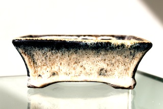 Glazed bonsai pot
