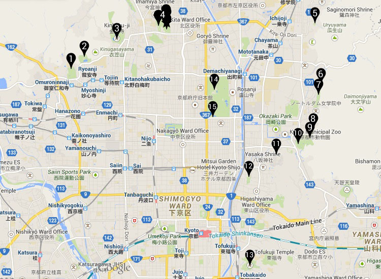 Japanese gardens in Kyoto, Japan - Bonsai Empire on kamakura map, taipei map, honshu map, nara map, chang'an map, kyushu map, hangzhou map, seoul map, yokohama map, hanoi map, shikoku map, lima map, japanese alps map, japan map, agra map, hong kong map, lhasa map, mombasa map, okinawa map, osaka map,