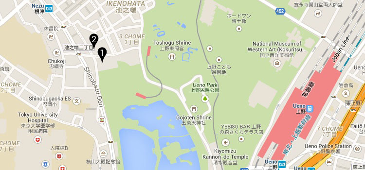 Ueno Green club map