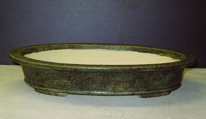 Bonsai pot after glaze firing